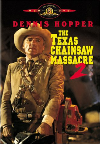Here is Dennis Hopper as a dual-chainsaw wielding sheriff who fights Leatherface.