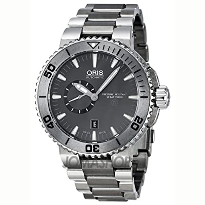 Oris Aquis Titanium Small Second Date Men's Stainless Steel Automatic Watch 74376647253MB