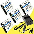 Four Halcyon 1500 mAH Lithium Ion Replacement Battery and Charger Kit for Olympus Stylus Tough 6000, Tough 6010, Tough 6020, Tough 8000, Tough TG-610, Tough TG-810, Stylus 1010, 1020, 1030 SW, 8010, 9000, 9010, SP-800 UZ, SP-810 UZ and Olympus LI-50B