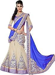 Apka Apna Fashion Women's Net Lehenga Choli (aaf1_Blue_Free Size)