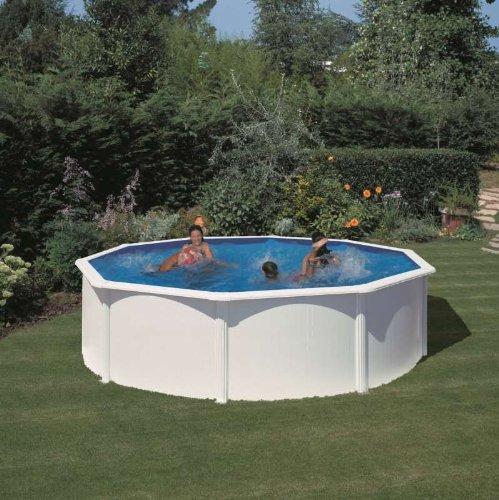 Pool Stahlwand Weiss günstig