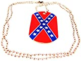 51PBBaPULDL. SL160  Confederate Flag Engravable Dog Tag Necklace Rebel