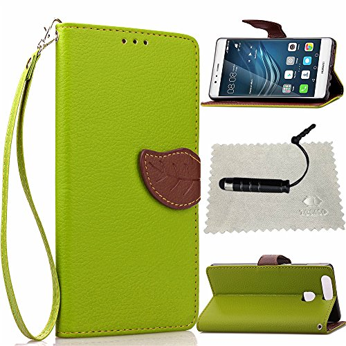 coque-huawei-p9-verttocaso-leaf-design-strap-portable-stand-pu-leather-wallet-flip-case-protecteur-h