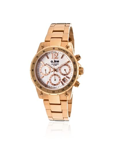 a_line Women's Liebe Rose-Tone/White Stainless Steel Watch