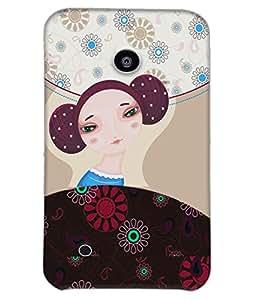 Fuson Nice Girl Back Case Cover for NOKIA LUMIA 530 - D3923