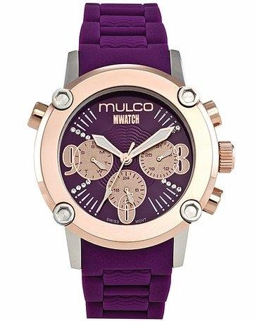 Mulco MW2-28049-056 Stainless Steel Chronograph MWATCH purple band Watch