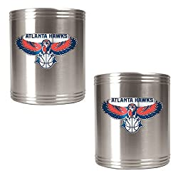 Atlanta Hawks NBA 2pc Stainless Steel Can Holder Set - Primary Logo