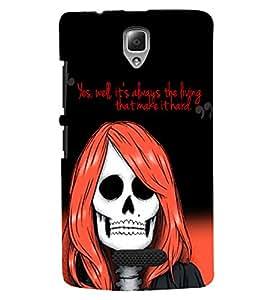 PRINTVISA Girl Skull Case Cover for Lenovo A2010
