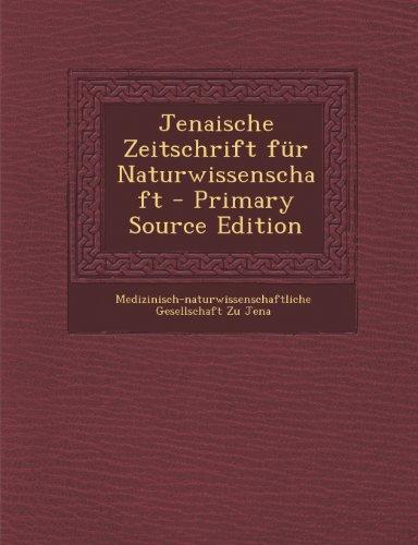 Jenaische Zeitschrift Fur Naturwissenschaft