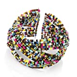 Seed Effect Beaded Cuff Fashion Bangle Multi