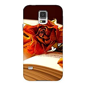 Stylish Rose Book Back Case Cover for Samsung Galaxy S5