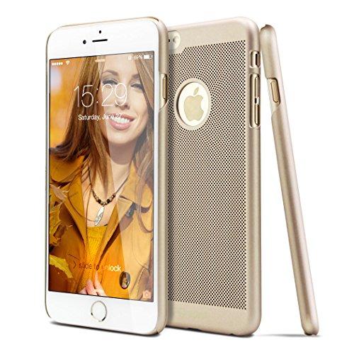 iPhone 6S Plus Case, TOTU® iPhone 6 Plus Cover Ultra Slim [Slim Fit Series] [Fingerprints Proof] Snap-on [Exact Fit] Super Lightweight No Bulkiness Hard Case for iPhone 6 Plus (2014) / iPhone 6S Plus (2015), Champagne Gold