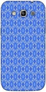 Snoogg Blue Flourish Pattern Designer Protective Back Case Cover For Samsung ...