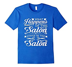 Men's Salon Hair Stylist What Happens in the Salon - Stylist Medium Royal Blue