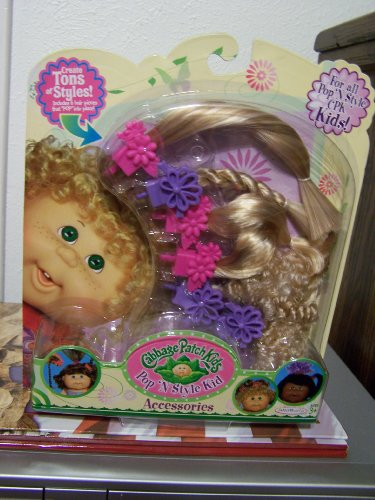 Cabbage Patch Kids Pop N Style Doll BLONDE Accessories - 6 Hair Pieces