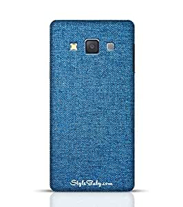 Case Designer for Samsung Galaxy A3 Texture of Blue Jeans -Samsung Multicolor