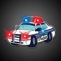 Police Car Flashing Blinking Light Up Body Lights Pins (25 Pack)