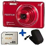 Bundle: Fuji JX660 Digital Camera in Red + Samsung SD 8GB + Hard Carry Case (Fujifilm Finepix 16MP, 720p HD video, 5x Optical Zoom, 26mm Wide Lens 2.7
