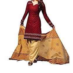 Shree Hari Creation Women's Poly Cotton Unstitched Dress Material (3853_Multi-Coloured_Free Size)