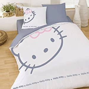 hello kitty blinky white 036644 housse de couette 200x200. Black Bedroom Furniture Sets. Home Design Ideas