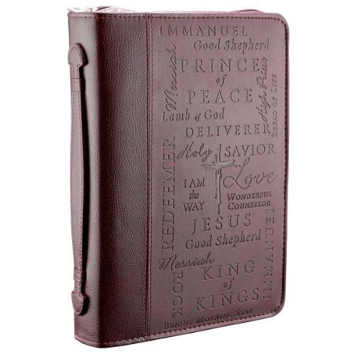 Names Jesus Burgundy Bible Cover
