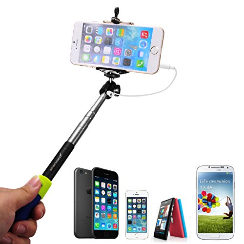 xcsource cable take pole 9 to 37 extendable selfie stick handheld monopod tripod for apple. Black Bedroom Furniture Sets. Home Design Ideas