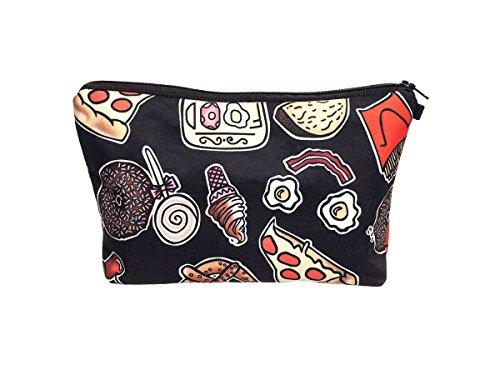 Beauty Case, borsa da viaggio, borsetta da toilette sacco sacchetto bagno per cosmetici trucco make up motivi diversi, Kosmetiktasche KT-002-050:KT-047 cibo spazzatura