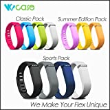 WoCase Fitbit Flex Wrstband Summer Edition Pack of 3 Accessory Replacement Wristband Bracelet Band Pack (Large) with Clasps for Fitbit Flex Activity and Sleep Tracker
