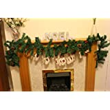 Christmas Pine Garland With Berries And Cones - Festive christmas decoration over the fireplace or stair banister!