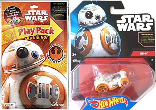 Star Wars BB-8 Hot Wheel + Play Pack Fun Force Awakens - Coloring Book, Crayons, Stickers Party Hot Wheel Star Wars Car fun set (Die Cast Star Wars Kit compare prices)