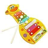 Tongshi Joven Bebé Instrumento musical de 8 Nota Desarrollo Sabiduría xilófono de juguete