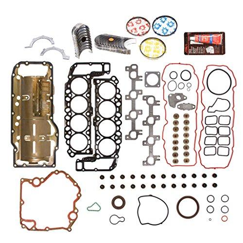 Evergreen Engine Rering Kit FSBRR8-30401EVE\0\0\0 04-07 Dodge Durango Dakota Jeep Mitsubishi 4.7 SOHC Full Gasket Set, Standard Size Main Rod Bearings, Standard Size Piston Rings