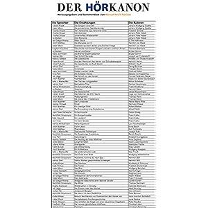 DER HÖRKANON - Herausgegeben und kommentiert von Marcel Reich-Ranicki: Die deutsche Liter
