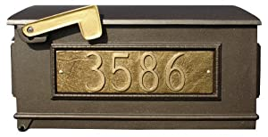 Qualarc Lewiston Mailbox Only With Address Plaques Bronze
