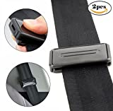 Ansblue Car Seat Belt Adjuster, Seatbelt Clips | Smart Adjust Seat Belts to Relax Shoulder Neck Give You a Comfortable and Safe Experience | 2PCS Black