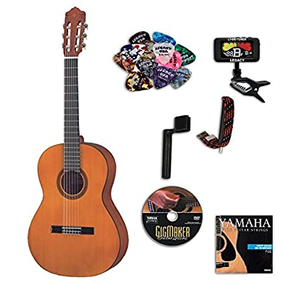 Yamaha CGS103AII 3/4 Size Classical Guitar Bundle w/Legacy Kit (Tuner,Picks,Capo and Much More)
