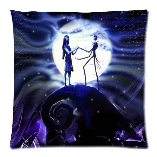 Generic Elegant The Nightmares Before Christmas Moon Car Cotton And Polyester Square Standard Zippered Pillowcases Case 20 By 20 Inch front-907229