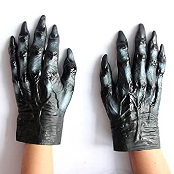 YUSONG Men's Halloween Costume Party Wolf Gloves