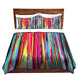 Duvet Cover Brushed Twill Twin, Queen, King SETs from DiaNoche Designs by Jackie Phillips Unique Home Decor and Designer Bedding Ideas Neon Abstract