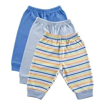 Luvable Friends 3-Pack Pants, Blue, 3-6 Months