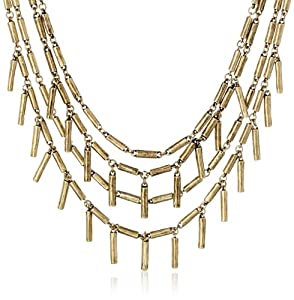 """Giles and Brother Hammered Fringe Necklace, 19"""""""