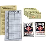 Pinochle Score Pad Gift Set (Blue): 40-Page Score Pad, Two Decks Blue Bicycle Pinochle Playing Cards, Four Meld Tables and Double Pinochle Quick Reference Guide