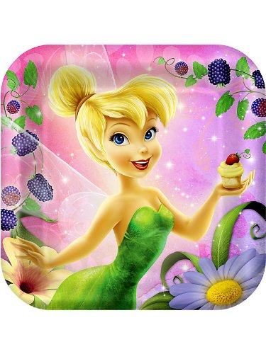 Tinker Bell 'Tink's Sweet Treats' Large Square Paper Plates (8ct) - 1