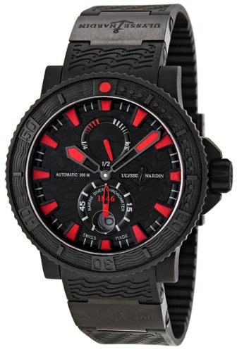 Ulysse Nardin Maxi Marine Diver Black Sea Automatic Mens Watch 263-92-3C