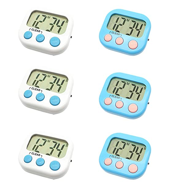 5 Pcs Large Digital LCD Kitchen Cooking Timer Count-Down Up Clock Alarm Magnetic