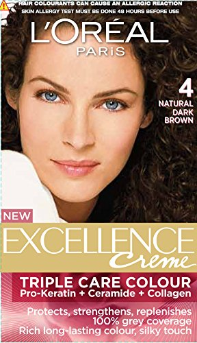 L'Oreal Paris L'Oreal Paris Excellence Creme, Natural Dark Brown 04, 72ml+100gm