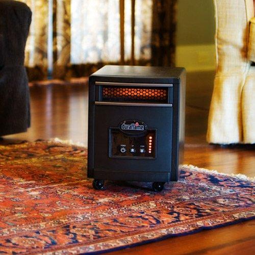 Duraflame 1500 watt quartz heater black 8hm1500 for Small room quartz heater