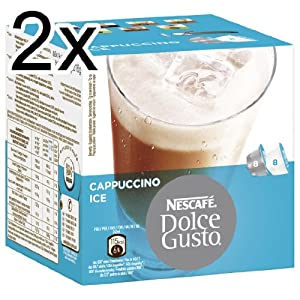 Order Nescafé Dolce Gusto Cappuccino Ice, Pack of 2, 2 x 16 Capsules (16 Servings) by Nestlé