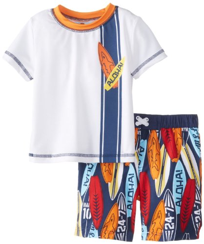 Baby Buns Boys Rashguard and Swimtrunk Wave Rider upf50 rashguard at152