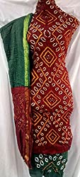 Shubh Women's Dress Material (7995CDRDGR_Red Green_Free Size)